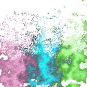 Stock Illustration of Saturated mottled background in violet, green and blue spectrum