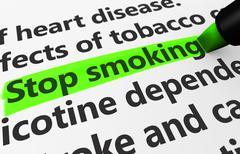 Quit Smoking Concept - stock illustration