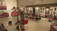 Shoe shop. camera walking Stock Footage