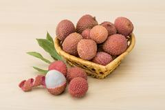 Tropical fruit - lychee Stock Photos