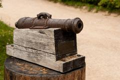 Little cannon monument Stock Photos