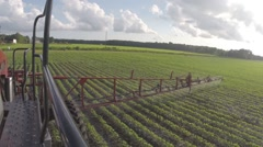 GoPro shot of agricultural sprayer Stock Footage