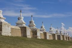 Erdene Zuu Monastery surrounding wall - stock photo