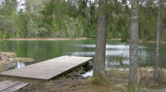 The big ledge on the edge of the lake Stock Footage