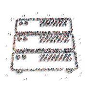 group  people shape  adjustment - stock illustration