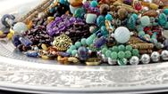 Stock Photo of Jewelry pile close up
