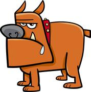 Stock Illustration of bull dog cartoon illustration