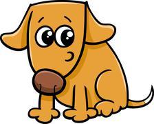 Stock Illustration of dog or puppy cartoon illustration