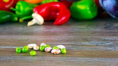Stock Photo of Beans and Vegetables