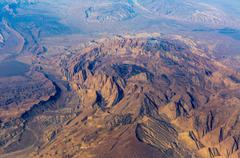 Mountains aerial view - stock photo