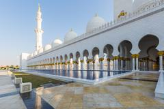 Sheikh Zayed Grand Mosque - stock photo