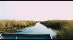 Stock Video Footage of Airboat in Everglades in 4k