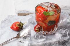 Strawberry mint smash Stock Photos
