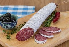 Fuet sausage Stock Photos