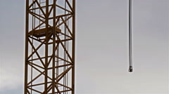The hanging chain on a crane Stock Footage