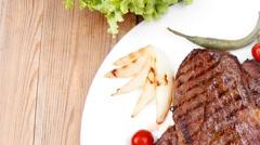 food : roast steak boneless - stock footage