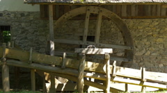 A wooden wheel of a watermill, Sibiu Stock Footage