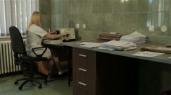 Pathologist cuts and takes tissue sample for analyzing in the laboratory. Stock Footage
