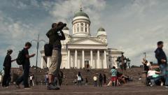 Time lapse of Helsinki Cathedral (Helsingin tuomiokirkko, Suurkirkko) Stock Footage