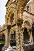 Cloister of the Monreale Abbey, Palermo Stock Photos
