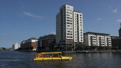 Dublin Viking Splash tours duck boat, Ireland Stock Footage
