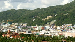 City of Phuket Thailand from Above Stock Footage