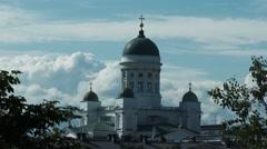 A rare angel of Helsinki Cathedral (Helsingin tuomiokirkko, Suurkirkko) Stock Footage