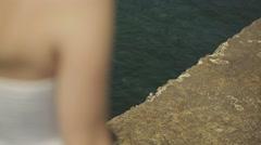 Love story on the sea. Honeymoon Stock Footage