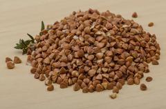 Raw buckwheat - stock photo