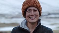 Asian woman portrait Stock Footage