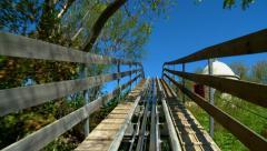 Dragon Coaster - Roller Coaster, Part 3 Stock Footage