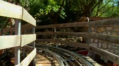 Dragon Coaster - Roller Coaster, Part 1 Stock Footage