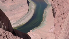 Hand Held Horse Shoe Canyon Stock Footage