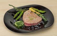 Grilled Tuna steak - stock photo