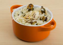 Risotto with mussels - stock photo