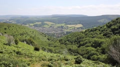 Elevated view of Minehead Somerset England UK in summer Stock Footage