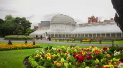 Belfast Botanic Gardens Stock Footage