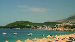HIMARA BEACH ALBANIAN RIVIERA Stock Footage