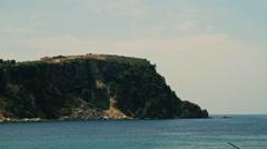 HIMARA ALBANIA CLIFF BEACH BAY STILL Stock Footage