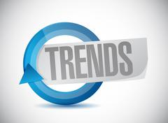 Trends cycle sign concept illustration Stock Illustration