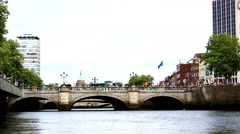 O'Connell Bridge - stock footage
