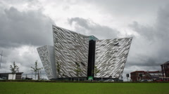 Titanic Museum, Belfast, Northern Ireland Stock Footage