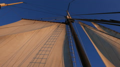 Sailboat Schooner Ship Mast Stock Footage
