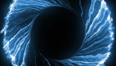 Blue fancy black hole - stock footage