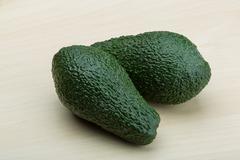 Fresh ripe green avocado Stock Photos