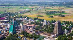 Stock Photo of Towers of Lord Bhakthavatsaleswara r Temple
