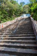 Stairs leading to a temple - stock photo