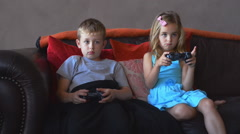 video games young kids - stock footage