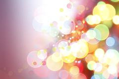 Stock Illustration of Colorful circles abstract background, copy space