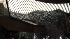 HELSINKI; FINLAND: Inside the Temppeliaukio Church - Church of the Rock Arkistovideo